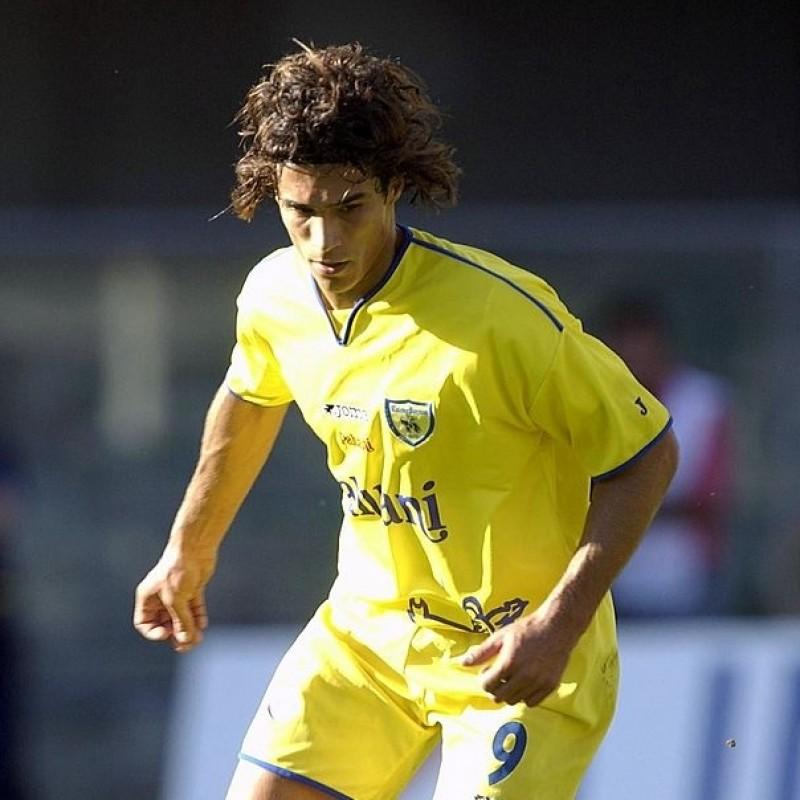 Corradi's Chievo Worn Match Shirt, 2001/02