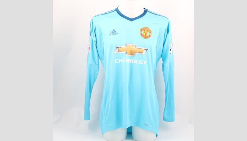 De Gea's Manchester Utd, Match-Issue/Worn Shirt, 2017/18