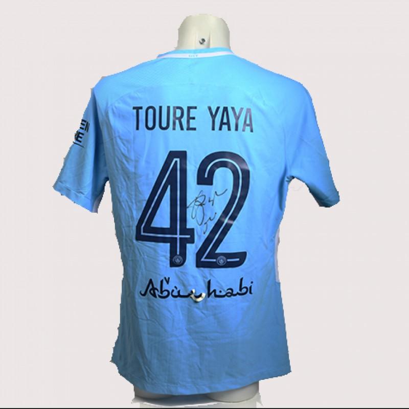 Yaya Touré Match-Worn Signed Manchester Derby Shirt