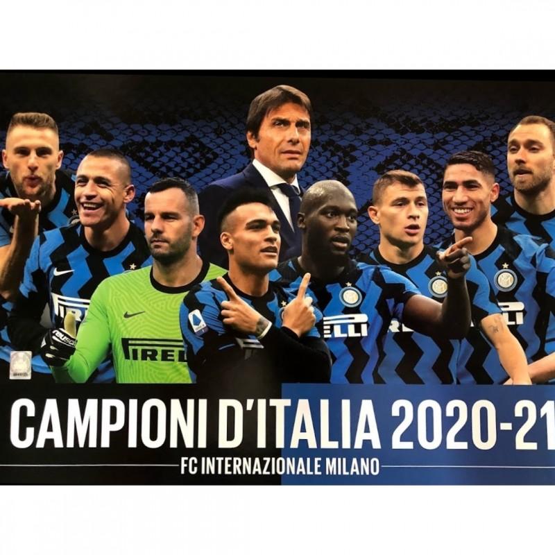 IM Scudetto Poster - Signed by Romelu Lukaku