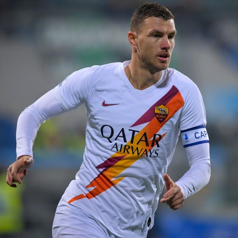 Dzeko's Official Roma Signed Shirt, 2019/20