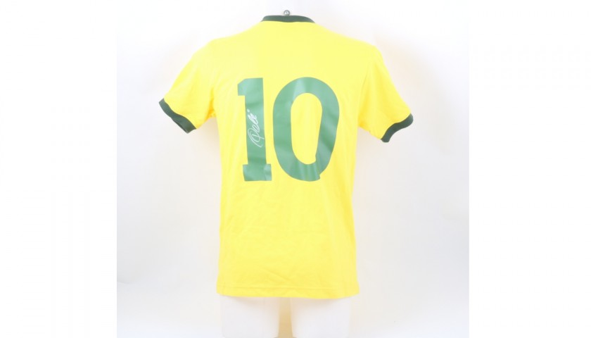 Brazil National Team Home Shirt Signed by Pelè