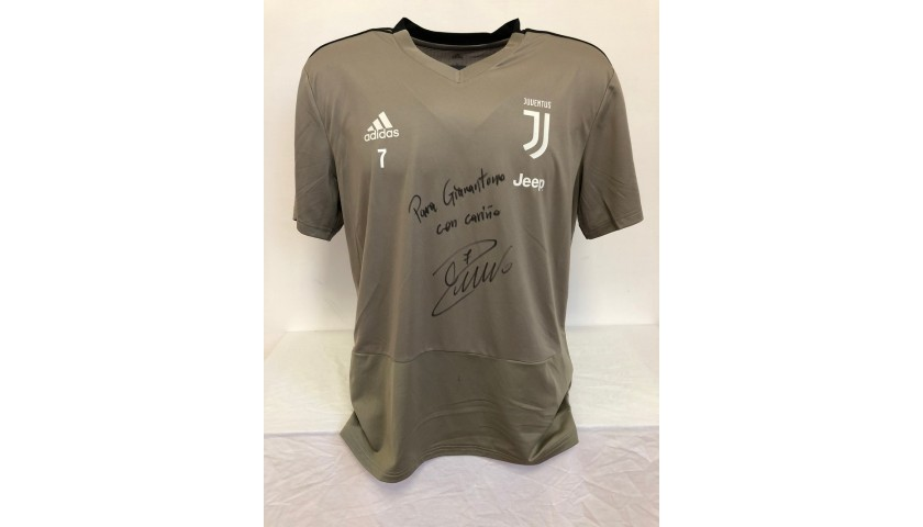 Ronaldo's Juventus Signed Training Shirt, 2018/19