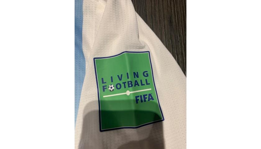Messi's Signed Match Shirt, France-Argentina 2018