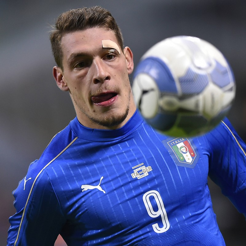 Belotti's Match-Issue/Worn Shirt, Italy-Germany 2016