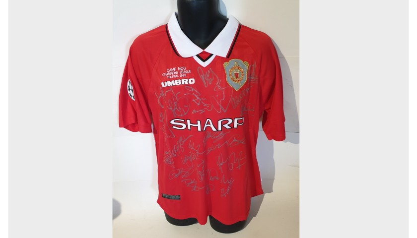 Manchester United 1999 Champions League Squad Signed Shirt