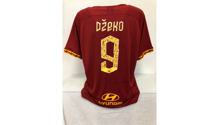 Dzeko's Official Roma Signed Shirt, 2019/20 Tokidoki Edition