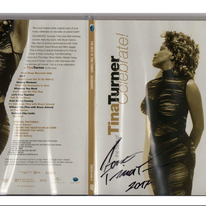 """Signed """"The Best Of Tina Turner - Celebrate!"""" DVD"""