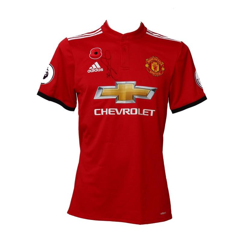 Henrikh Mkhitaryan Match-Worn, Washed & Signed Manchester United FC Shirt