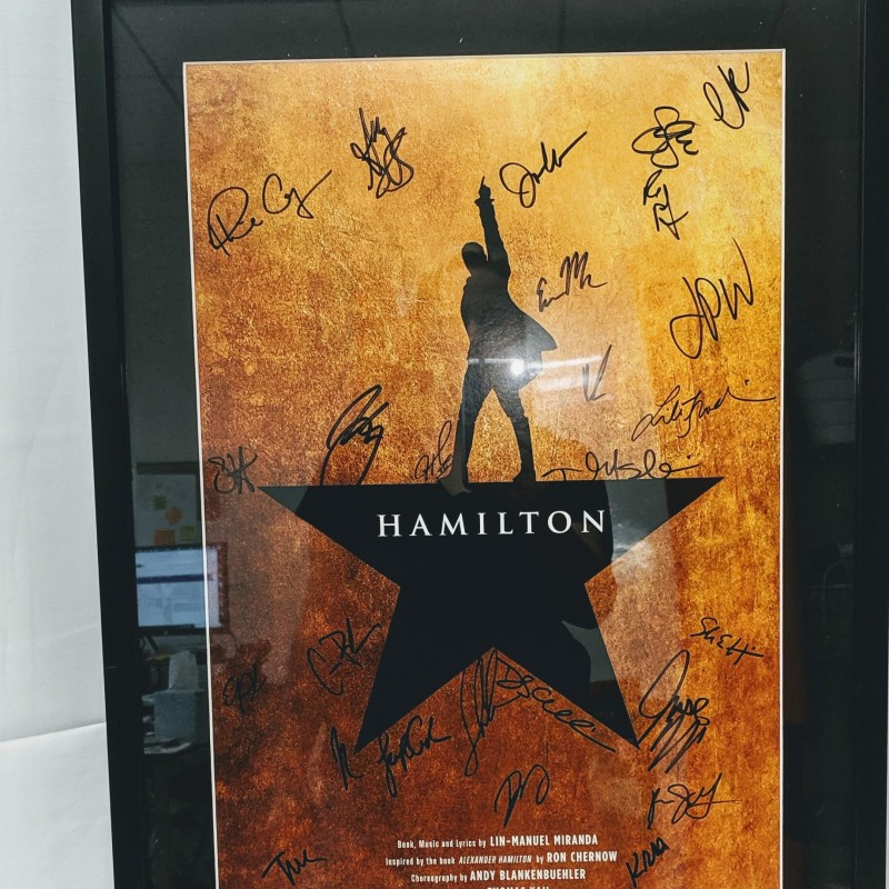 Signed Hamilton Poster