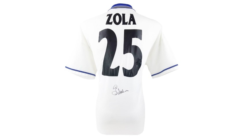 Zola's Official Chelsea Signed Shirt, 1998/99