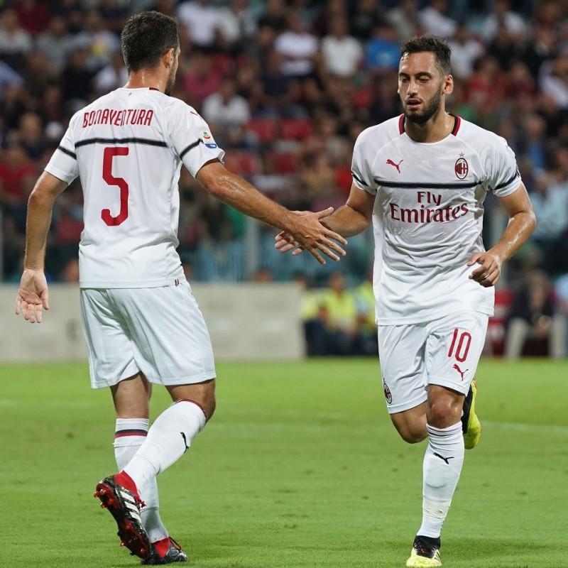 Bonaventura's Official Milan Shirt, 2018/19 - Signed by Leao