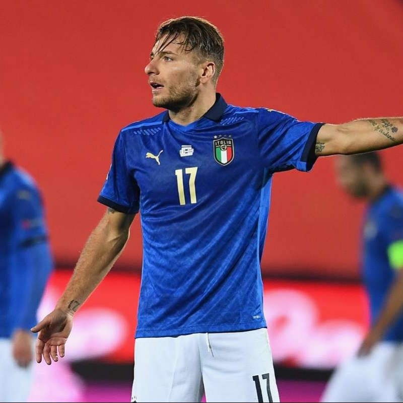 Immobile's Match Shirt, Italy-Holland 2020