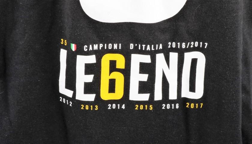 Juventus Scudetto T-shirt - Signed by Gianluigi Buffon
