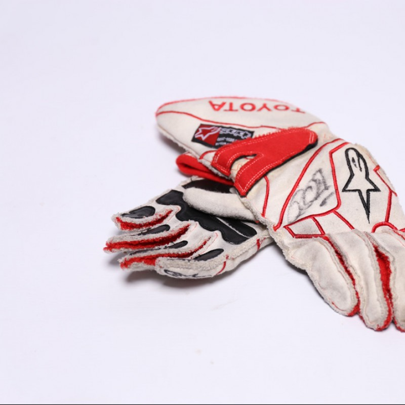 Signed Ralf Schumacher Toyota F1 Gloves
