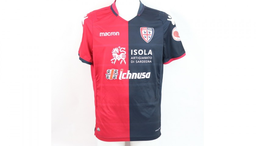 Pisacane's Cagliari Worn Shirt, Serie A 2018/19