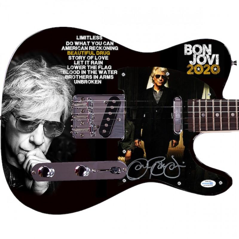 Jon Bon Jovi Signed Guitar