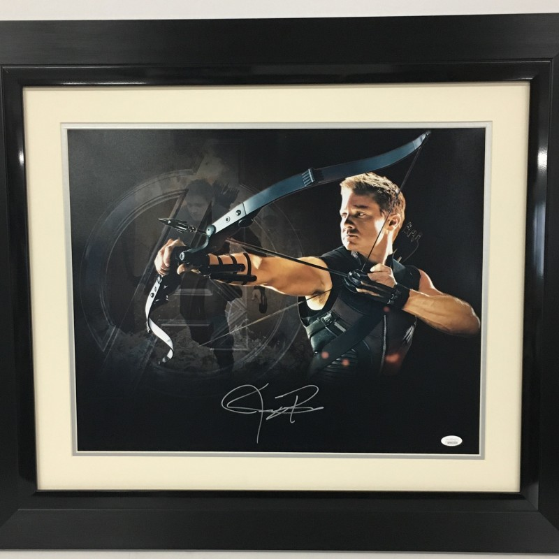 Jeremy Renner Autographed Avengers Photograph