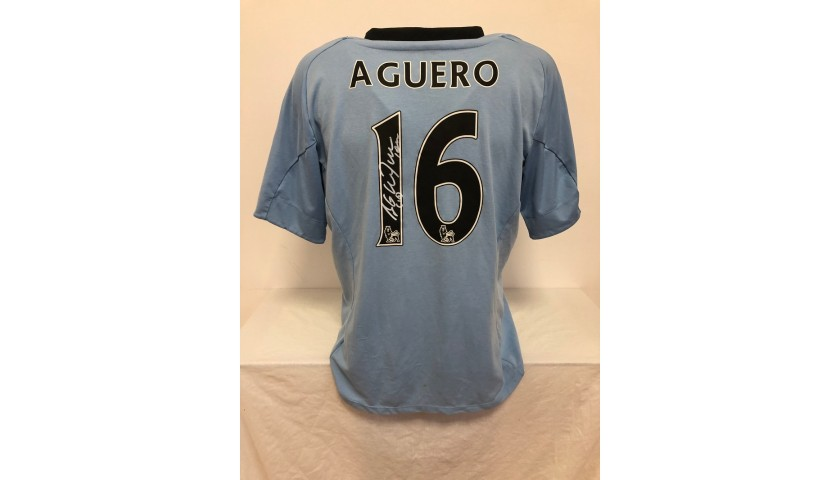 Aguero's Official Manchester City Signed Shirt, 2012/13