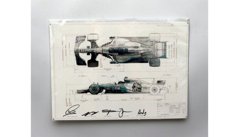 2017 Signed Championship Print AMG