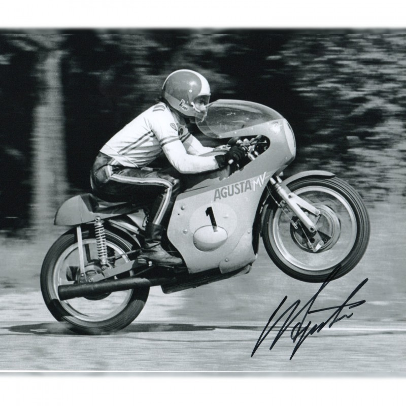 Giacomo Agostini Signed Photograph
