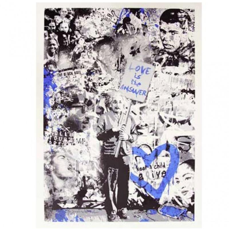 """Keep a Child Alive (Blue)"" by Mr Brainwash"
