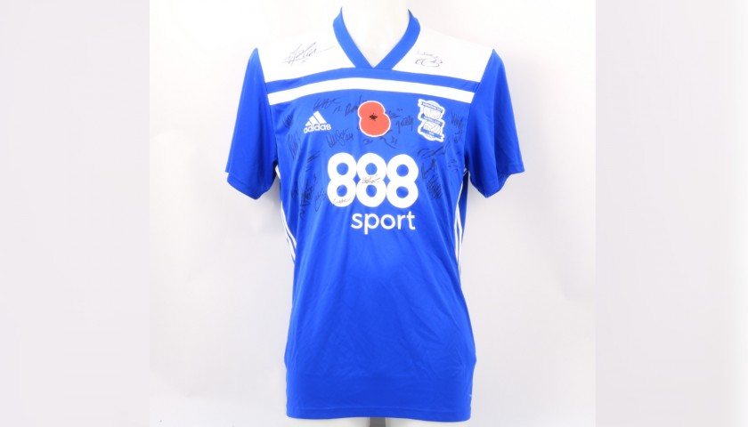 Birmingham City Official Poppy Shirt Signed by the Team