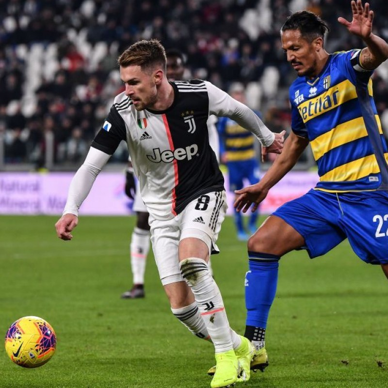 Ramsey's Worn and Unwashed Shirt, Juventus-Parma 2020