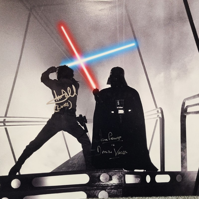 "Mark Hamill & David Prowse ""Star Wars"" Signed Photo"