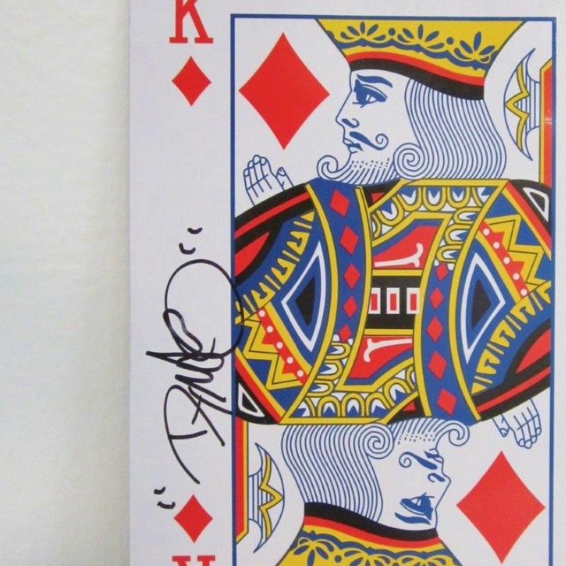 Card signed by Dynamo the magician