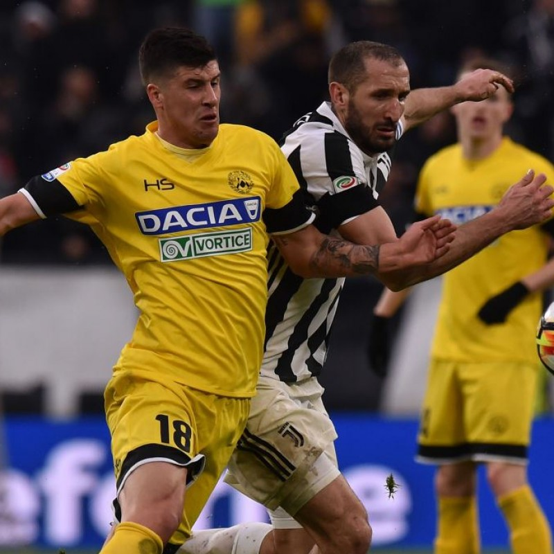 """Perica's Match-Worn 2018 Juventus-Udinese Shirt with """"Ciao Davide"""" Patch"""