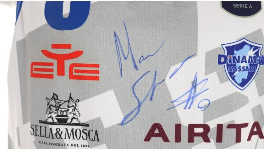 Spissu's Sassari Signed Match Jersey, 2019/20