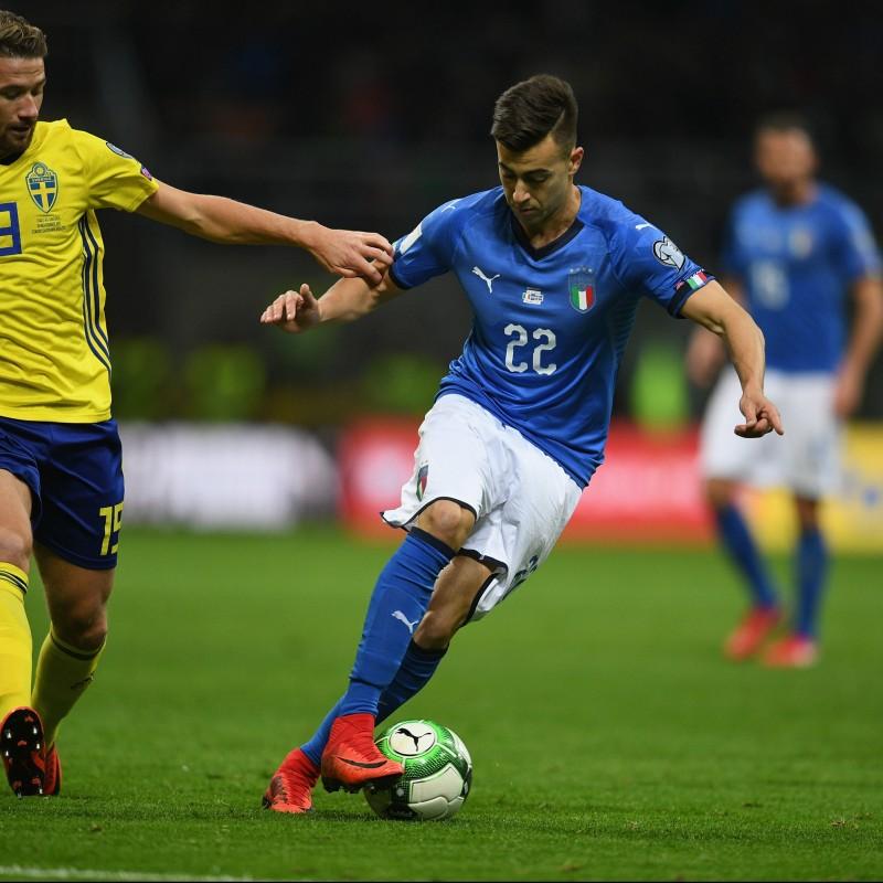 El Shaarawy's Match Shirt, Italy-Sweden 2017