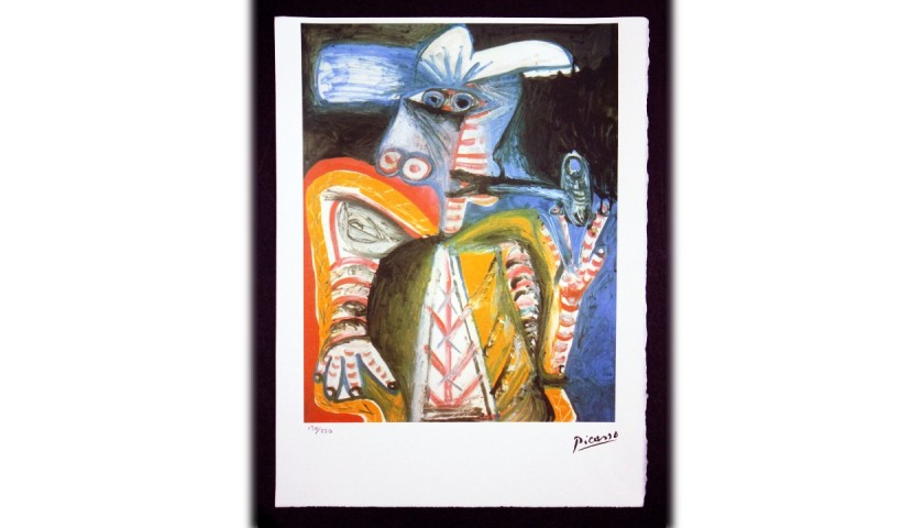 Pablo Picasso - Original Lithograph with Dry Stamp