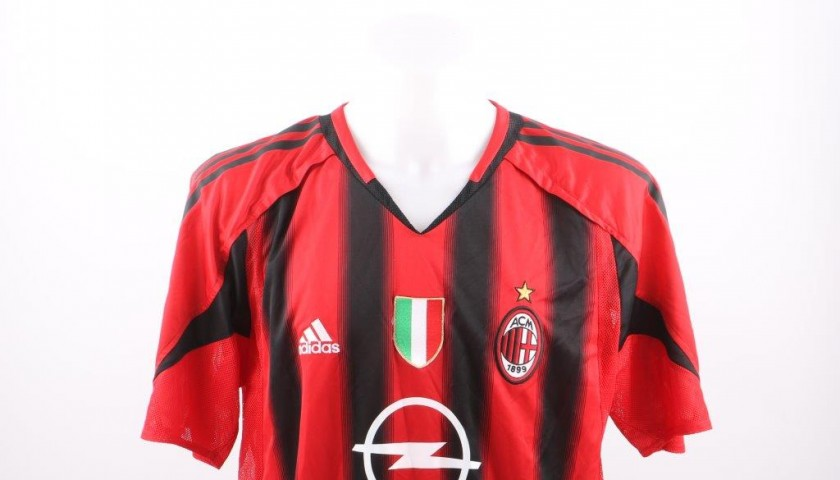 new concept 9a946 5ce45 Seedorf's AC Milan match issued/worn shirt, Champions League 2004/2005 -  CharityStars