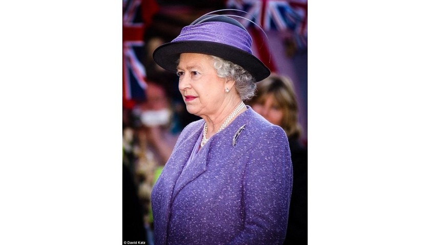 Exclusive Print of Her Majesty The Queen, Romford Market 2006, by David Katz
