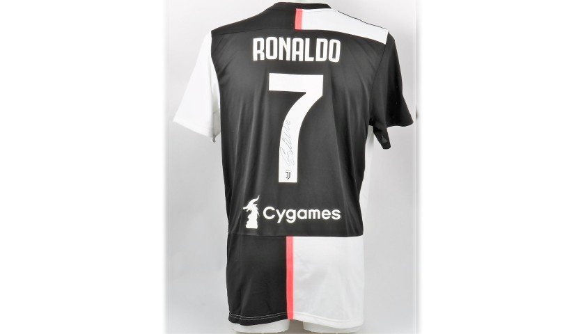 reputable site 91573 e1d8a Ronaldo's Official Juventus 2019/20 Signed Shirt - CharityStars
