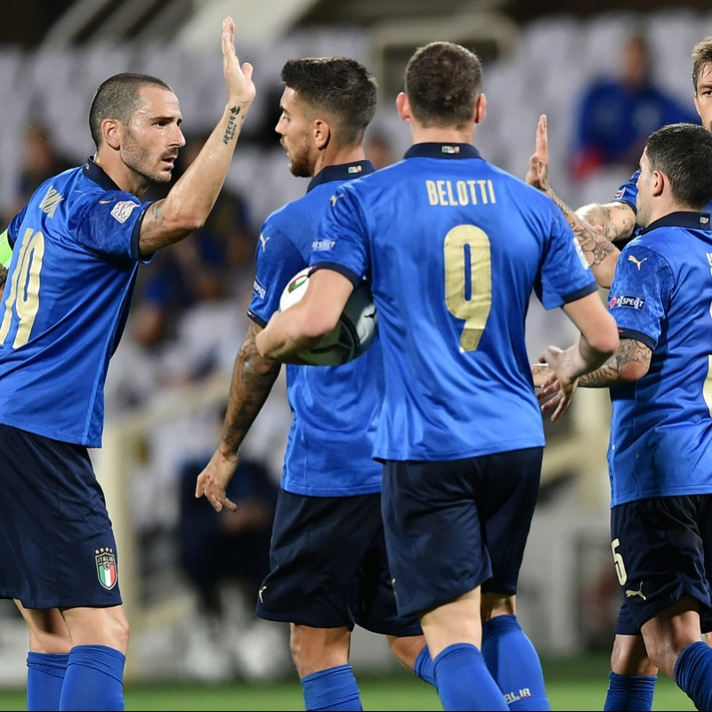 Chiellini's Match Shirt, Italy-Bosnia 2020
