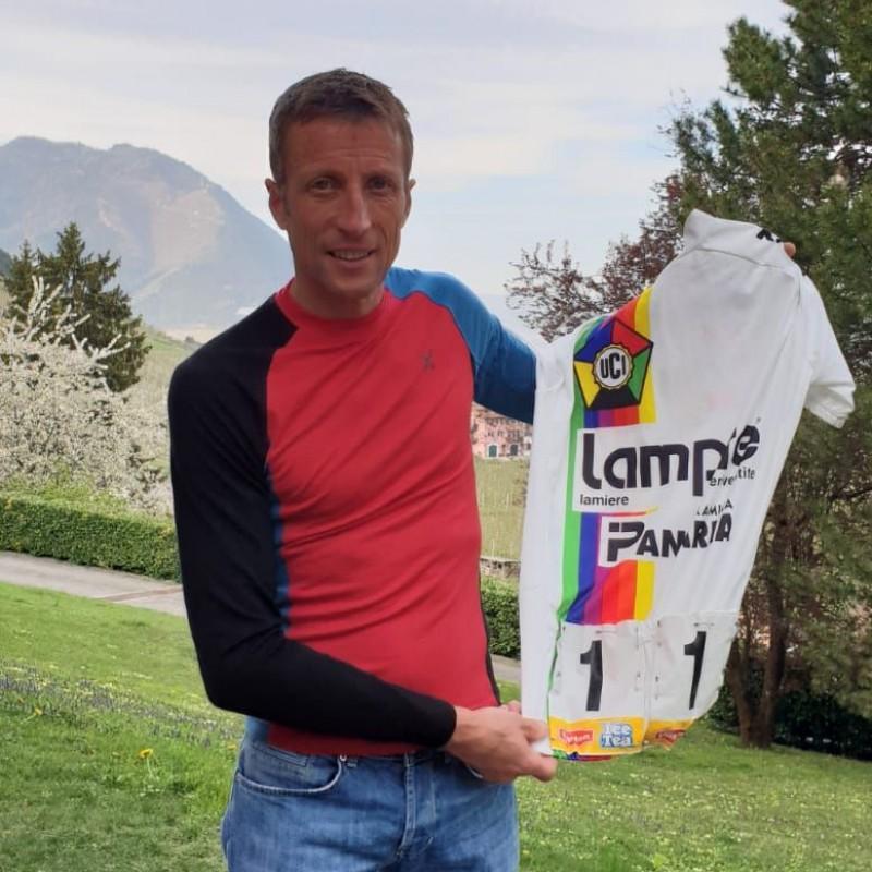 Maurizio Fondriest's Worn Shirt,  Milano-Sanremo 1994 - World Number 1