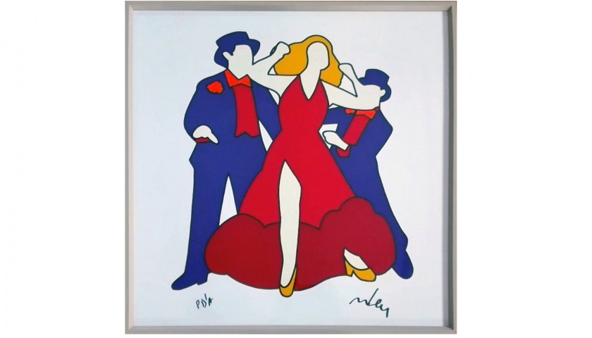 "Serigrafia ""Ballerini"" del Maestro Marco Lodola"