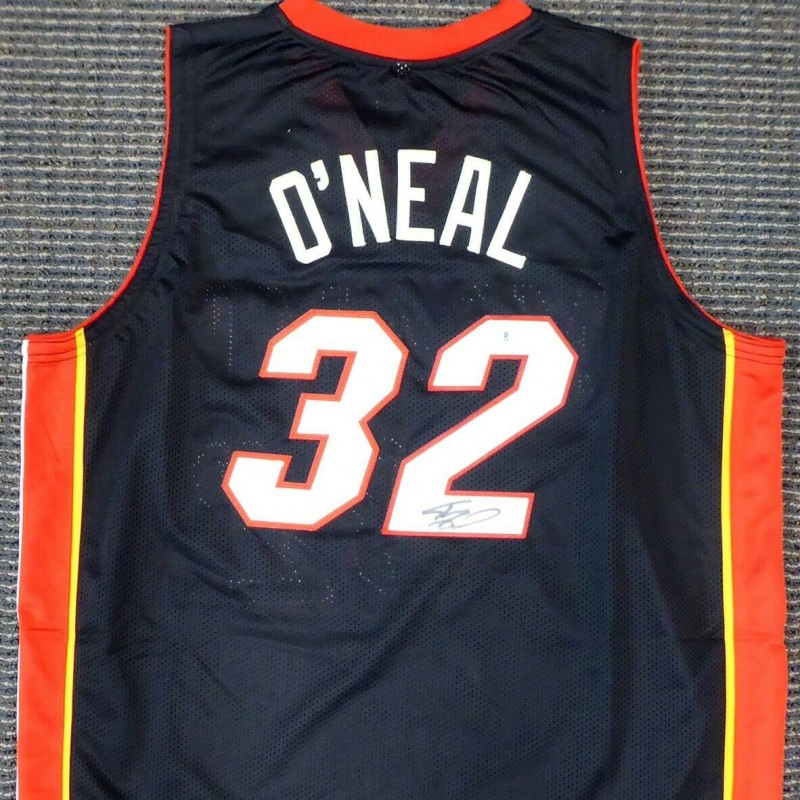 Shaquille O'Neal Signed Miami Heat Jersey