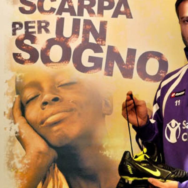 Gilardino Fiorentina worn boots,  Serie A 2011/2011