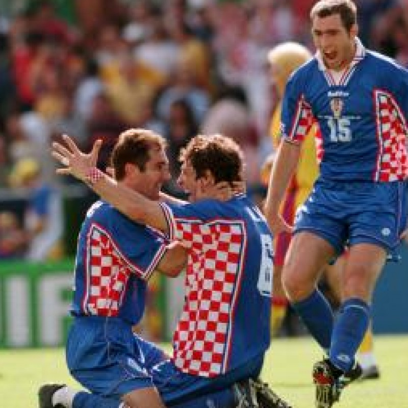 Bilic's issued/worn Croatia shirt, FIFA World Cup France '98
