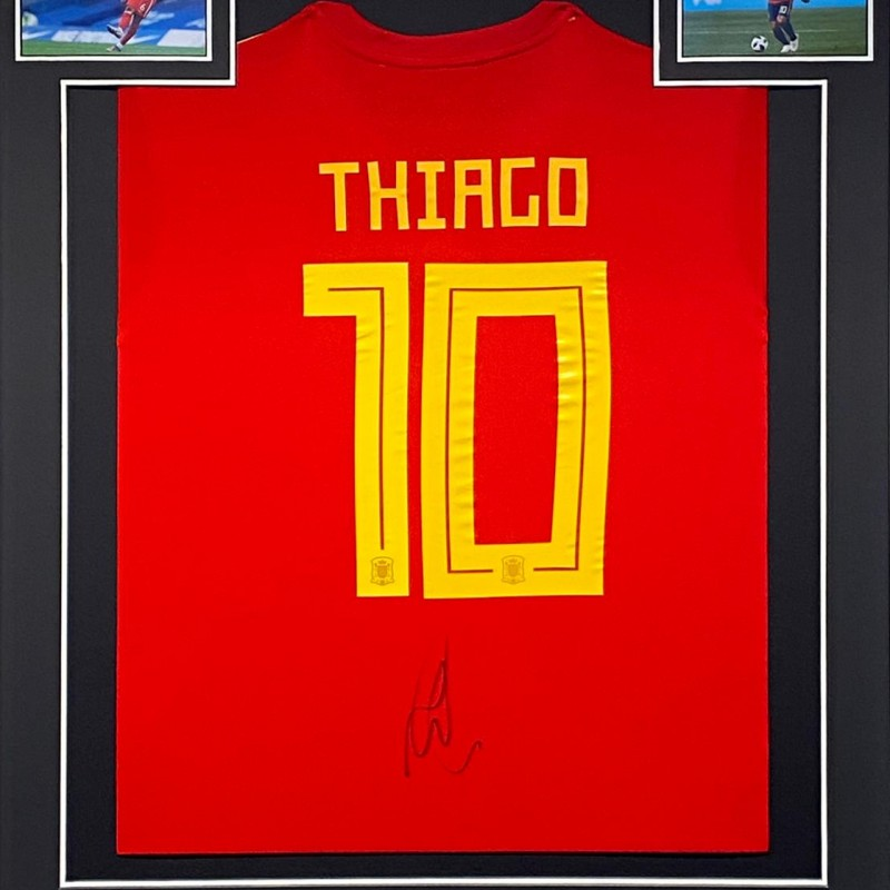 Thiago's Spain Signed and Framed Shirt