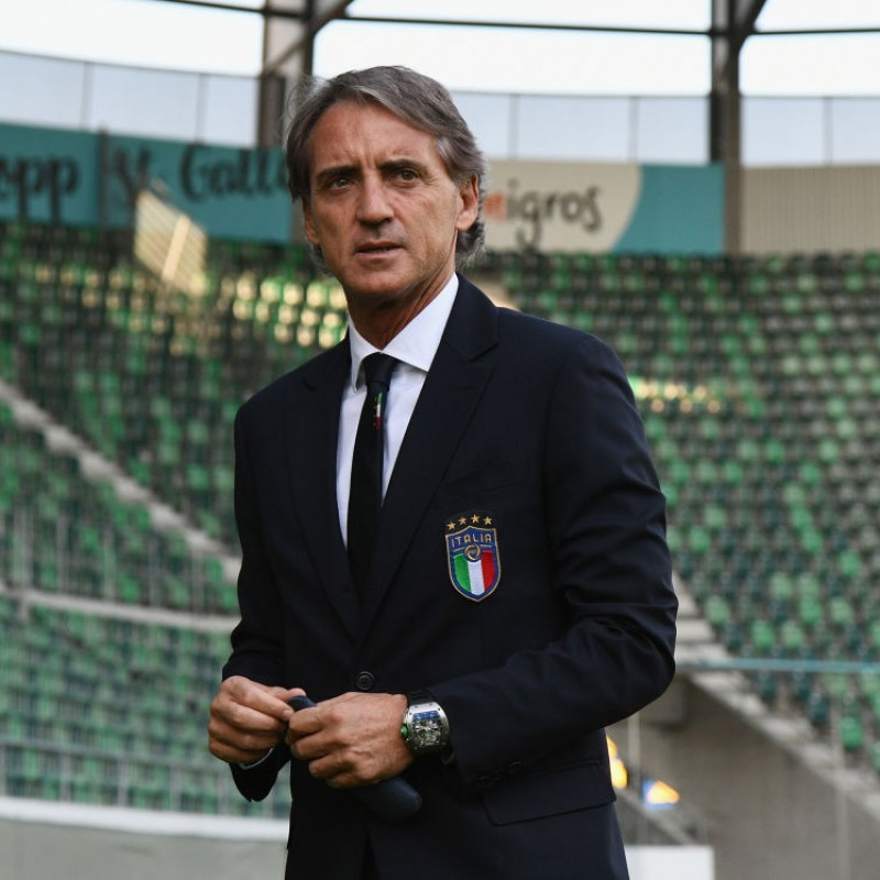 Mancini's Official Italy Signed Shirt, 2020