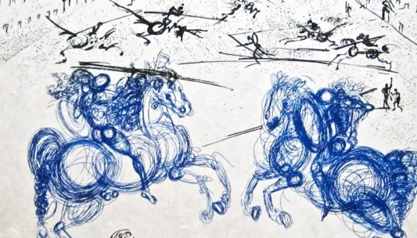 Salvador Dali - Signed Combat des Cavaliers, Original Etching