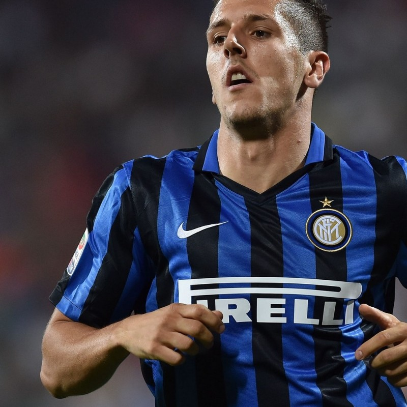 Jovetic shirt, issued Inter-Milan 13/09/2015 - special shirt