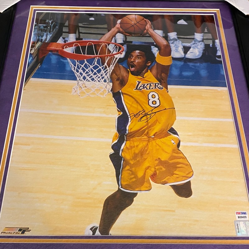 Kobe Bryant Large Hand Signed, Custom Framed Photograph
