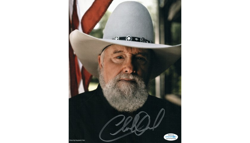 Charlie Daniels Hand Signed Photograph