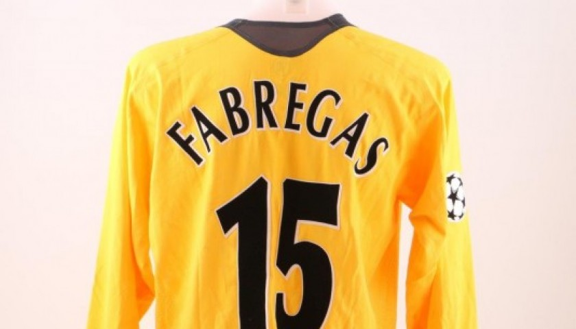 3a715bdf6a1 Fabregas  Arsenal match issued worn shirt